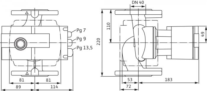 Pompa de circulatie cu flansa Wilo Stratos 40/1-10, 220 mm [1]