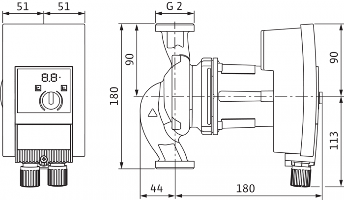 Pompa de circulatie cu flansa Wilo Yonos Maxo 30/0.5-10, 180 mm 1