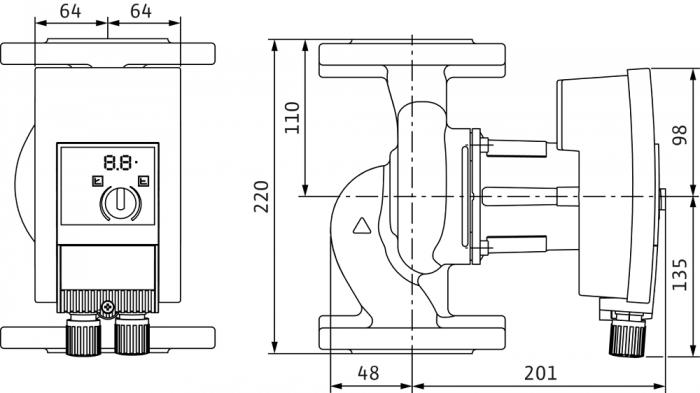 Pompa de circulatie cu flansa Wilo Yonos Maxo 40/0.5-8, 220 mm 1