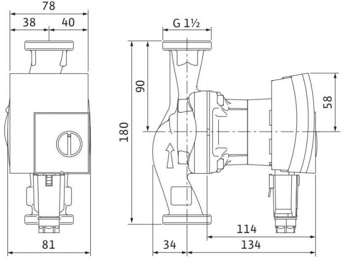 Pompa de circulatie Wilo Yonos Pico 25/1-8, 180 mm 1