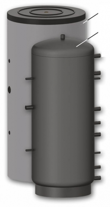 Rezervor de acumulare pentru sisteme de incalzire - 1000l cu serpentina 1