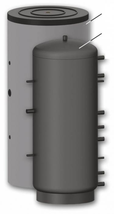 Rezervor de acumulare pentru sisteme de incalzire - 1000l cu 2 serpentine 1