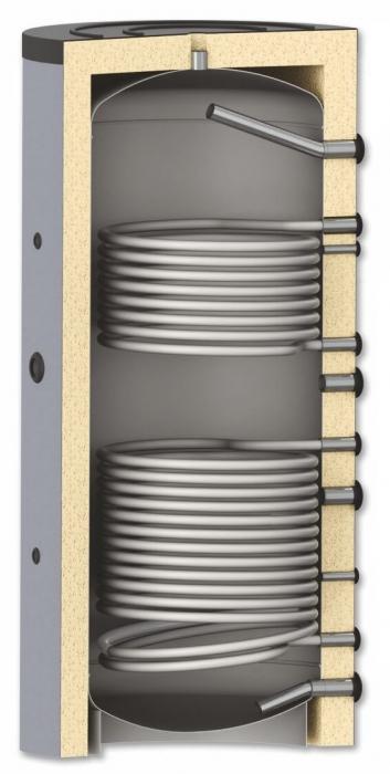 Rezervor de acumulare pentru sisteme de incalzire - 1000l cu 2 serpentine 0