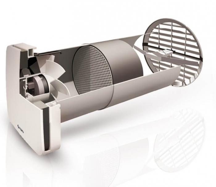 Ventilator cu recuperare de caldura si functie de purificare a aerului Aspira RHINOCOMFORT 160 RF 4