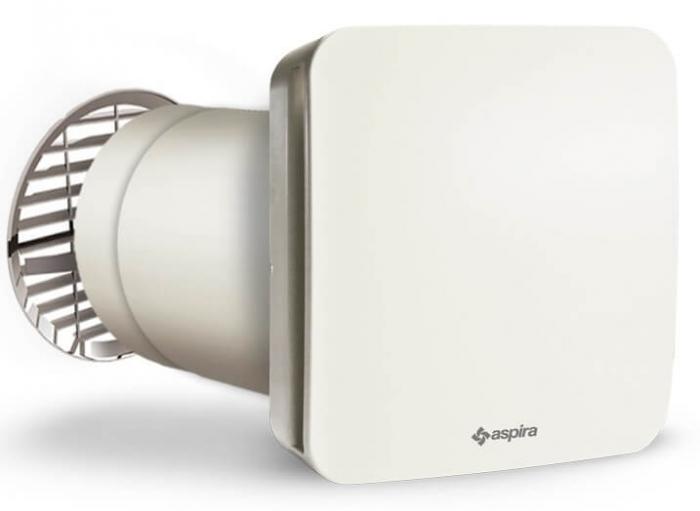 Ventilator cu recuperare de caldura si functie de purificare a aerului Aspira RHINOCOMFORT 160 RF 0