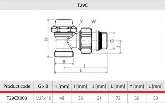 Robinet retur cromat pentru calorifer portprosop, coltar, termostatabil Giacomini T29CX003 1