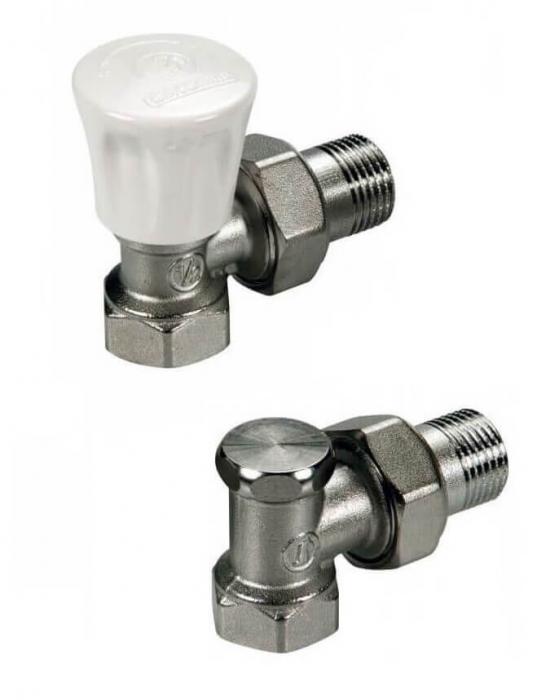 """Set robineti coltar tur - retur 1/2"""" Giacomini 0"""