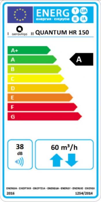 Unitate de ventilatie cu recuperare de caldura Aerauliqa Quantum HR 150 1