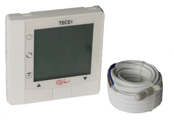 Cronotermostat cu fir si senzor de sapa inclus TECEfloor SLQ 14TCR0T01 0