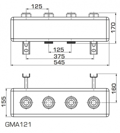 Distribuitor fara separatie hidraulica ESBE GMA seria 1002