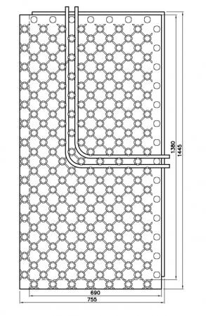 Placa cu nuturi pentru incalzire in pardoseala Fragmat Stirotermal DUO 32 1380 x 690 mm [2]