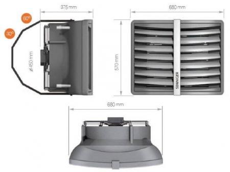 Aeroterma cu agent termic pentru incalzire Sonniger Heater R2 50 kW1