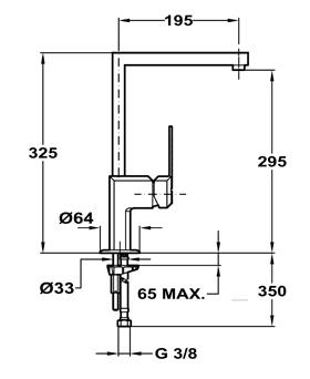 Baterie de bucatarie prevazuta cu teava de curgere inalta Teka EXP 995 (MZX)1