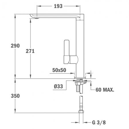Baterie de bucatarie prevazuta cu teava de curgere inalta  Teka FO 915 NC (Black)1