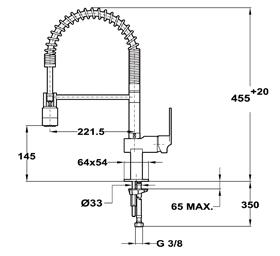 Baterie de bucatarie prevazuta cu teava de curgere rotativa si sistem de dus Teka My Compact(Pro Compact)2