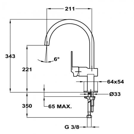 Baterie de bucatarie prevazuta cu teava de curgere inalta Teka MZ 915 N (Cuadro MZ White)1