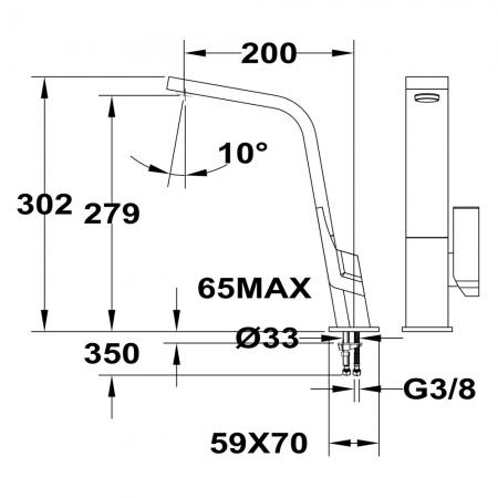 Baterie de bucatarie prevazuta aerator integrat Teka IC 9152