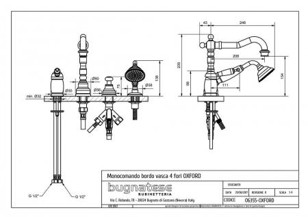 Baterie cada/dus Bugnatese Oxford 63552