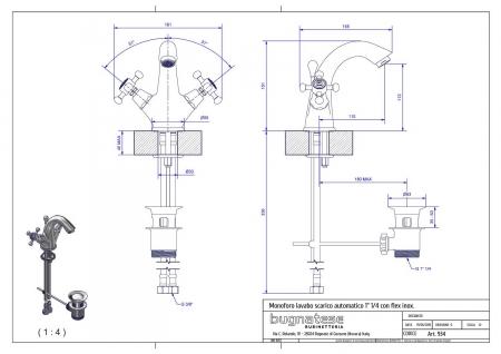 Baterie lavoar Bugnatese Lady 934 [1]