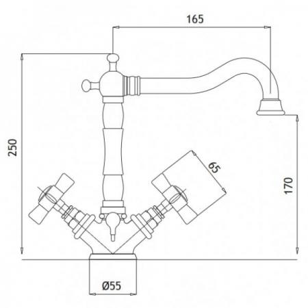 Baterie lavoar Bugnatese Princeton 834, design traditional3