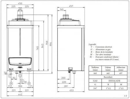 Centrala termica in condensare Immergas Victrix Pro 55 kW - numai incalzire2
