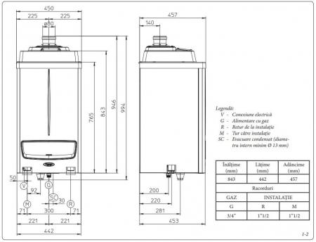 Centrala termica in condensare Immergas Victrix Pro 80 kW - numai incalzire2