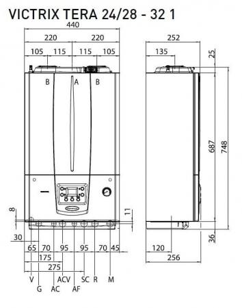 Centrala termica in condesare Immergas Victrix Tera 24/282