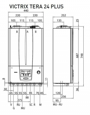 Centrala termica in condesare Immergas Victrix Tera 24 Plus - numai incalzire2