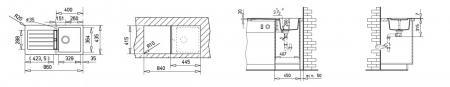 Chiuveta bucatarie cu o cuva din tegranit Teka Kea 45B TG 1B 1D1