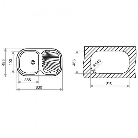 Chiuveta bucatarie din inox Teka Stylo 1B 1D2