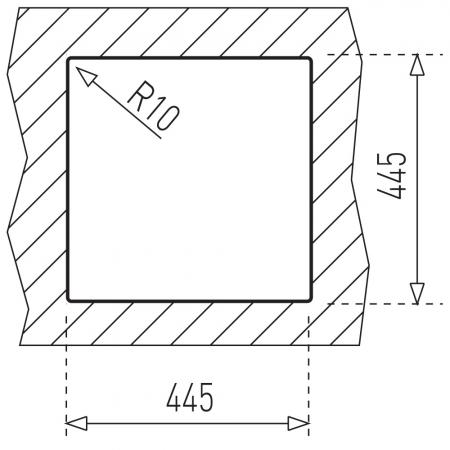 Chiuveta bucatarie din inox Teka Universal E/465.465 1B1