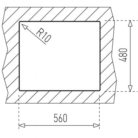 Chiuveta bucatarie din inox Teka Universal E/580.500 1B 1/2 D [1]
