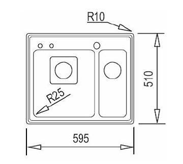 Chiuveta din inox Teka Frame 1 1/2 B2