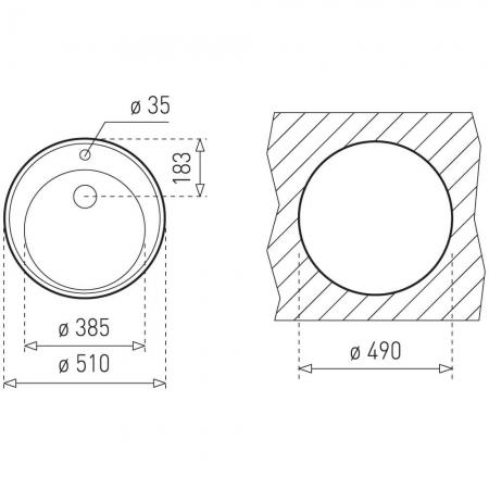 Chiuveta  rotunda din inox Teka Centroval 45 [2]