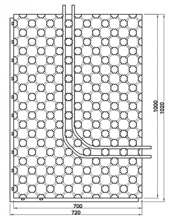 Placa cu nuturi pentru incalzire in pardoseala Fragmat Stirotermal CLASSIC 1000 x 700 mm2