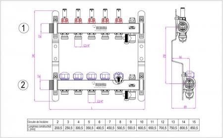 Distribuitor cu debitmetre Rehau HKV-D pentru incalzire in pardoseala2