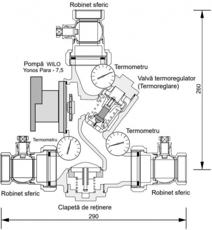 Grup de pompare Laddomat 22 cu pompa electronica1