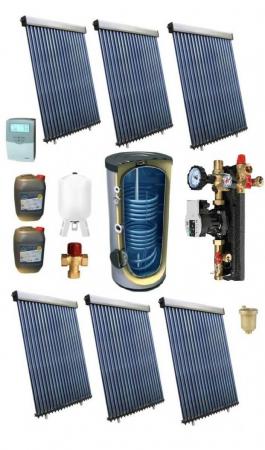 Pachet panou solar pentru 30 persoane cu boiler bivalent de 1500l [0]