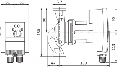 Pompa de circulatie cu flansa Wilo Yonos Maxo 30/0.5-10, 180 mm1