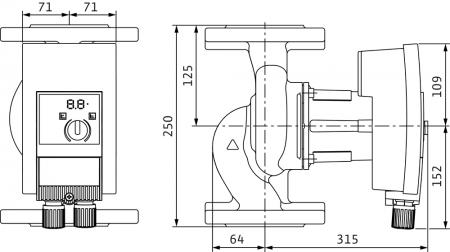 Pompa de circulatie cu flansa Wilo Yonos Maxo 40/0.5-12, 250 mm [1]