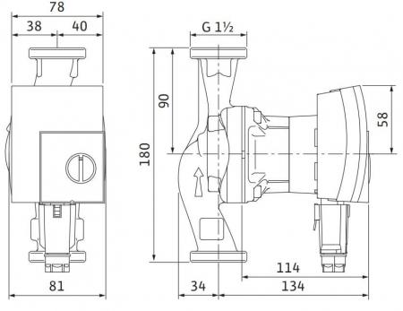 Pompa de circulatie Wilo Yonos Pico 25/1-8, 180 mm1