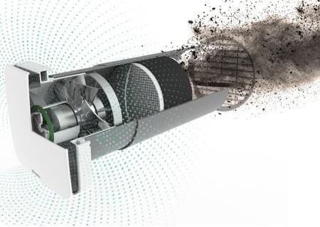 Recuperator de caldura cu functie de sanitarizare a aerului Aspira RHINOCOMFORT 160 RF1