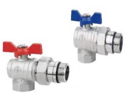 Set robineti sferici de izolare, cu niplu 1 FI x 1 FE Jurgen Schlosser Armaturen [0]