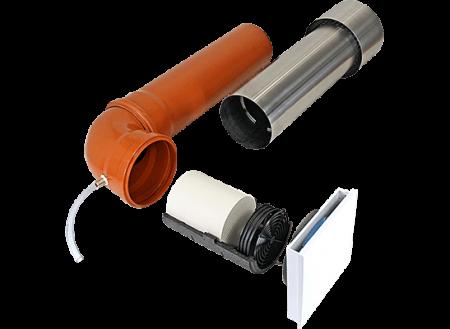 Sistem de ventilatie cu recuperare de caldura integrat in perete Sevi 160 U0