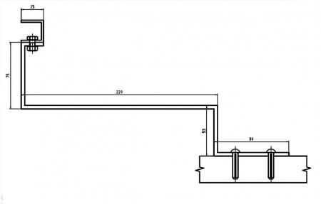 Suport panou solar pentru acoperis cu tigla ceramica [1]