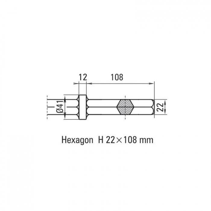 Daltă lată Solida prindere H 22 x 108 [1]