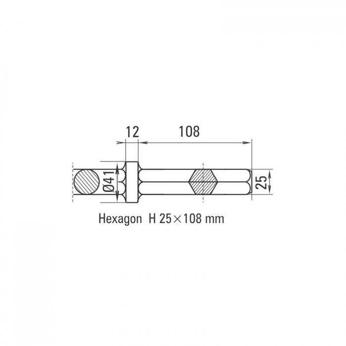 Daltă pentru asfalt Solida prindere H 25 x 108 mm [1]