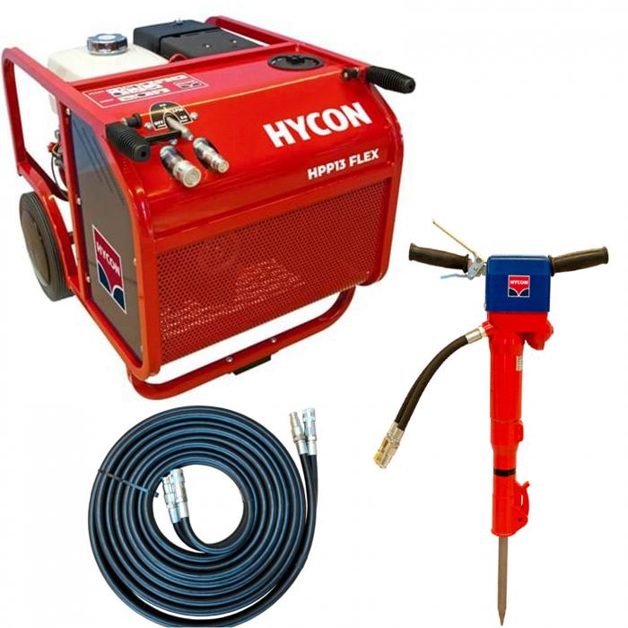Pachet hidraulic Hycon HPP13 FLEX + ciocan hidraulic HH23 + furtun 10 m [0]