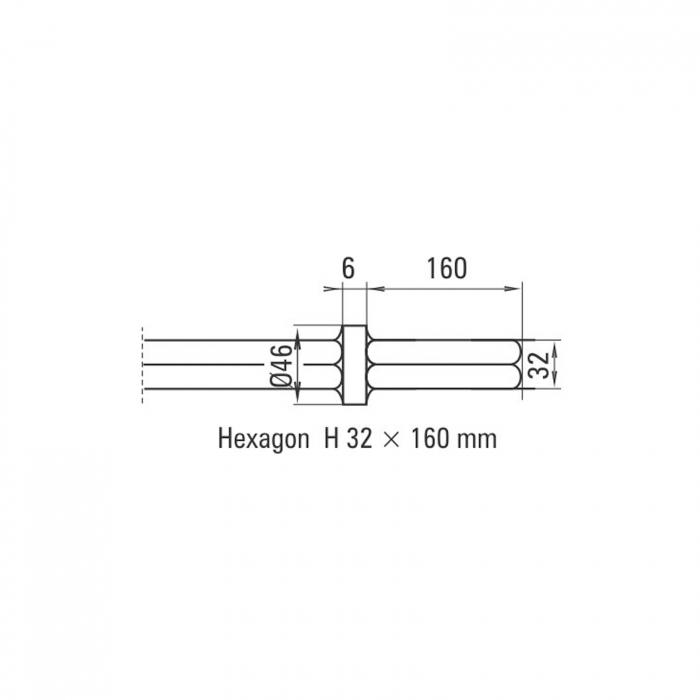 Daltă îngustă Solida prindere H 32 x 160 mm [1]