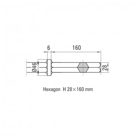 Daltă îngustă Solida prindere H 28 x 160 mm [1]